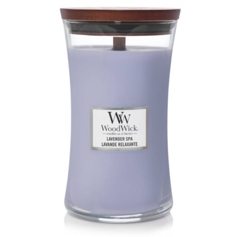 Woodwick Spa lavender Large Candle