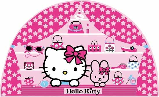 Hello Kitty - Foam Muursticker - Roze - 28,5x52,5 cm