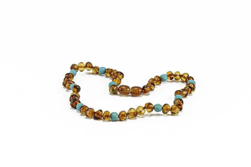 Baltische barnsteen Teething Cognac Joy armband