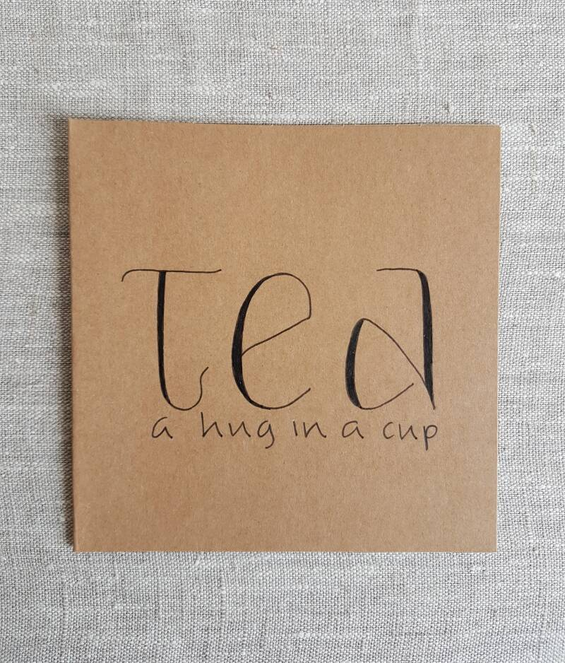 Tea a hug in a cup