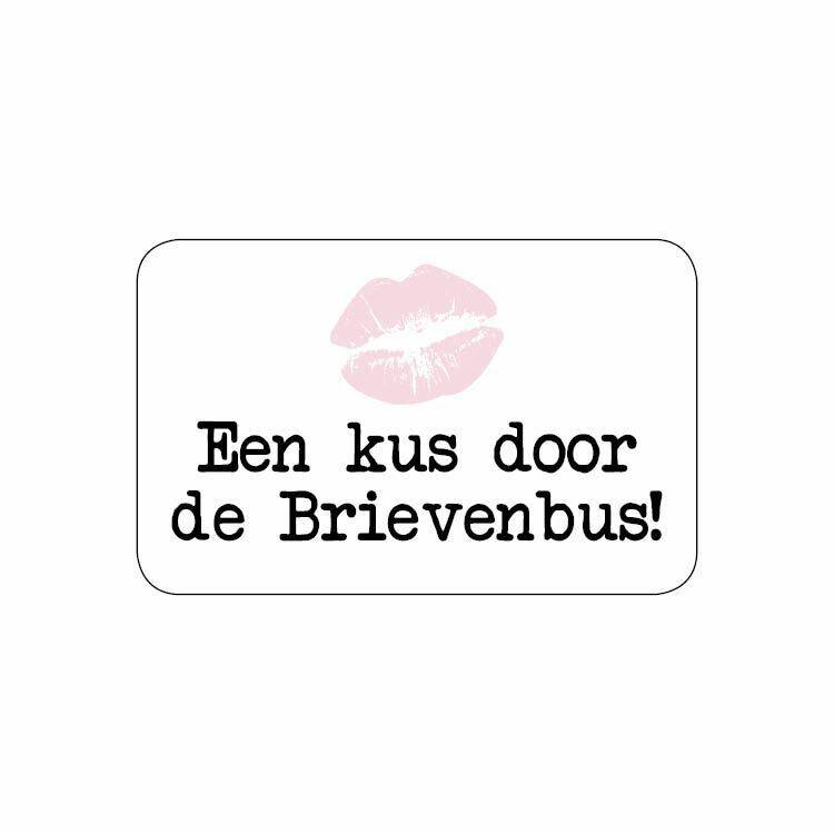 Sticker - een kus door de brievenbus