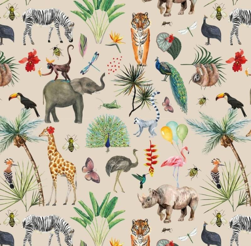 Cadeaupapier breed - Jungle