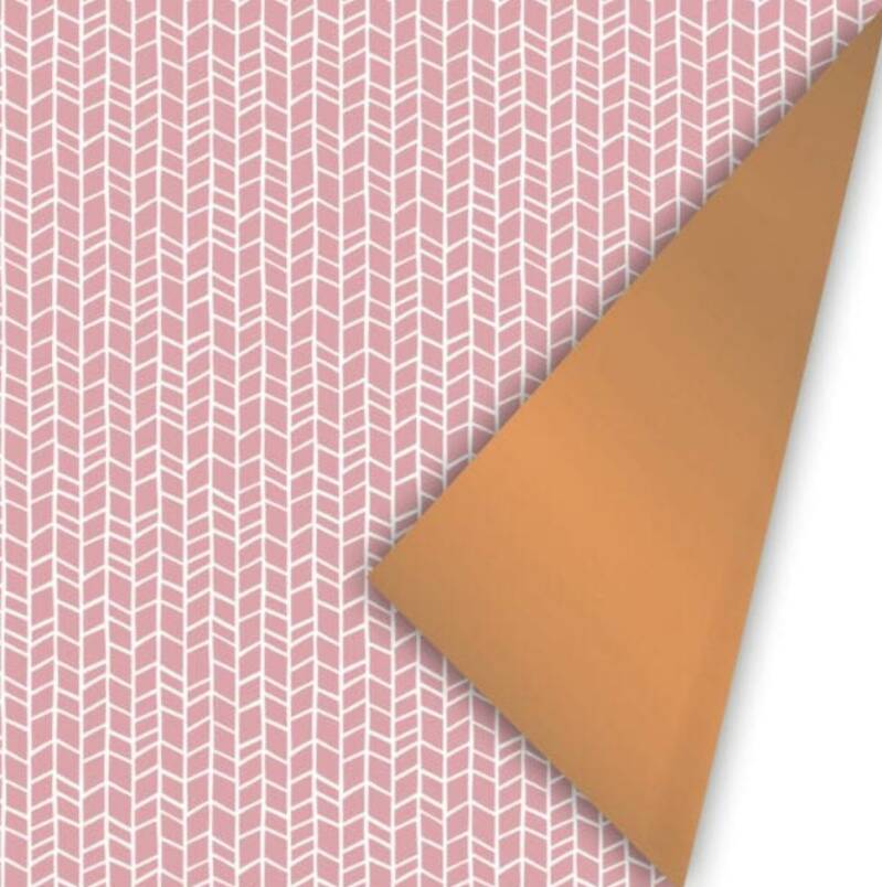 Cadeaupapier breed - Roze patroon