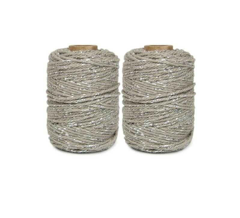 Touw - taupe/zilver 50 m.
