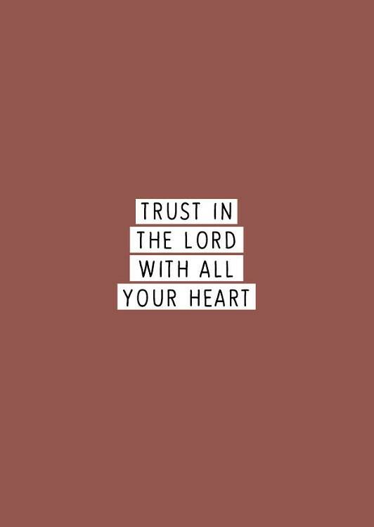 Kaart - Trust in the Lord with all your heart