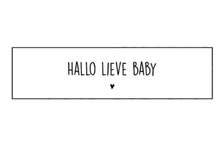 Sticker- Hallo lieve baby