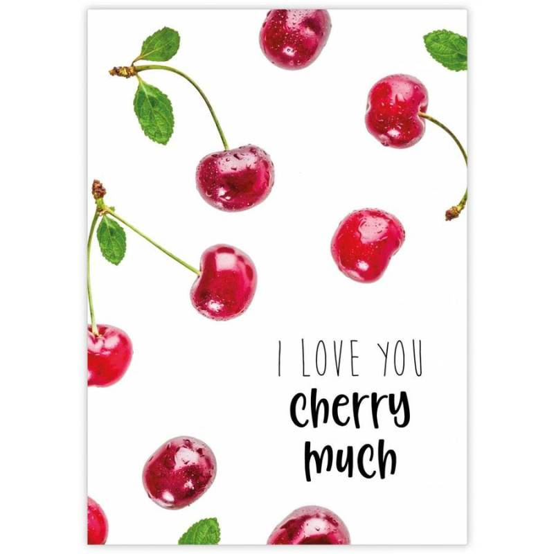 Kaart - I love you cherry much