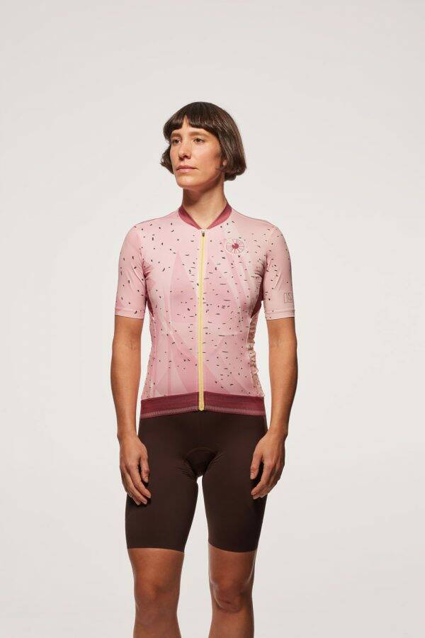 Women's Cycling Jersey – Strawberry Banana Spinach Smoothie