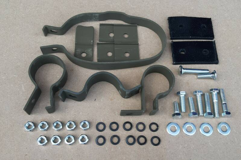 Clamp Set Exhaust (Late)