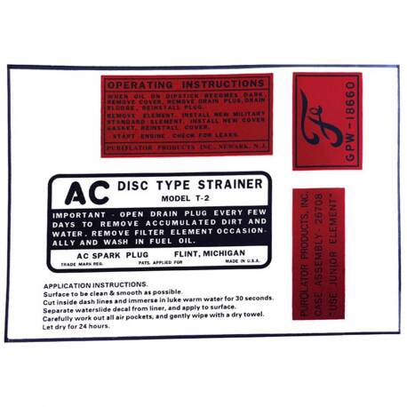 Engine Detail Decal Set Ford