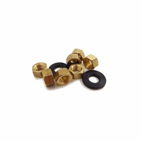 Exhaust Manifold Brass Nut & Bevel Washer Set