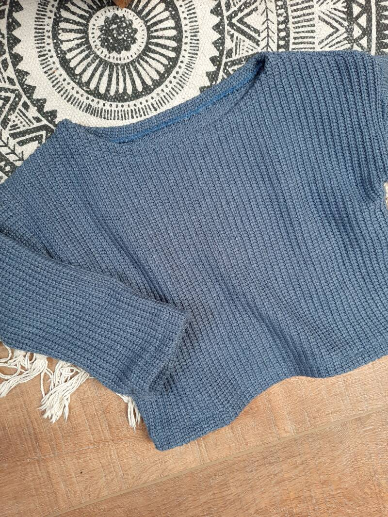 Easy Going Sweater Knit Blue