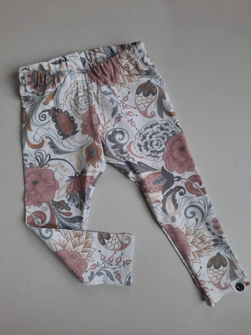 Legging KIKI Flowers Soft Pink