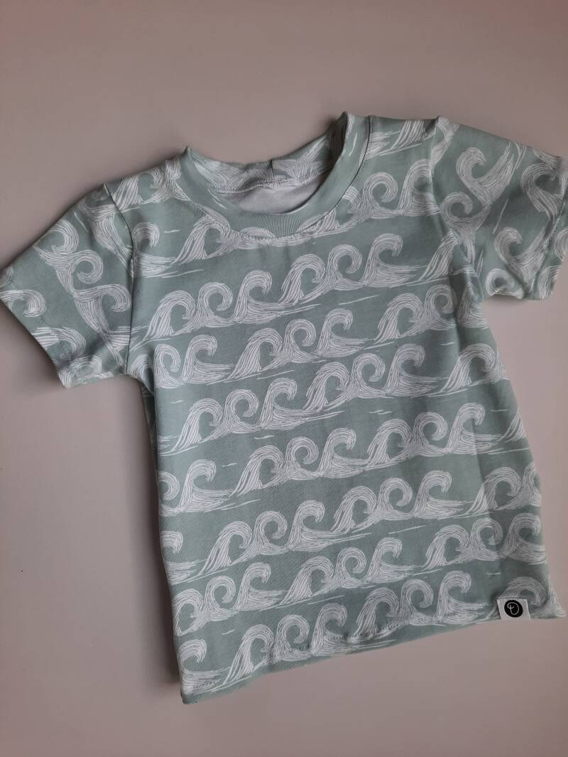 T-shirt TILLY Soft Green Waves