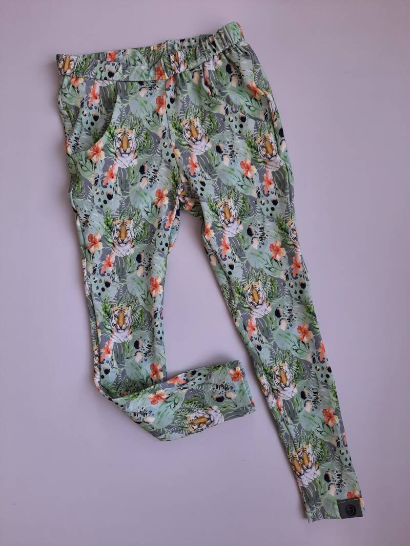 Comfy Pants JOLIE Mint Tiger