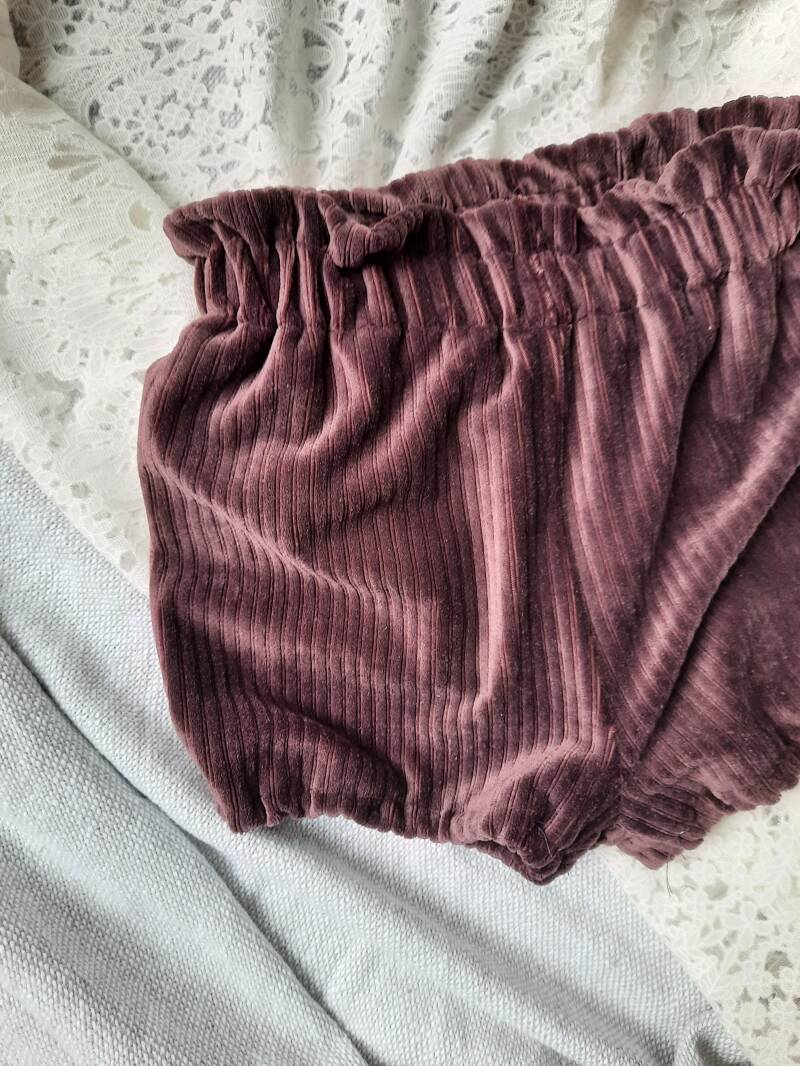 High Waist Bloomer PIP Dark Purple Rib