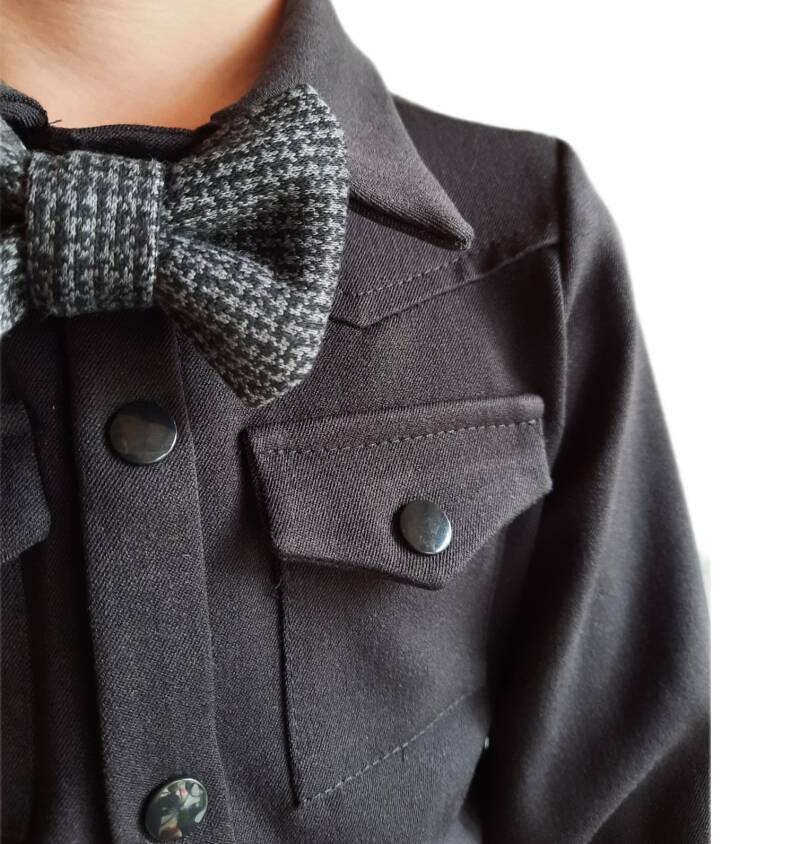 BOW TIE EDEN BLACK AND GREY BY P&Z