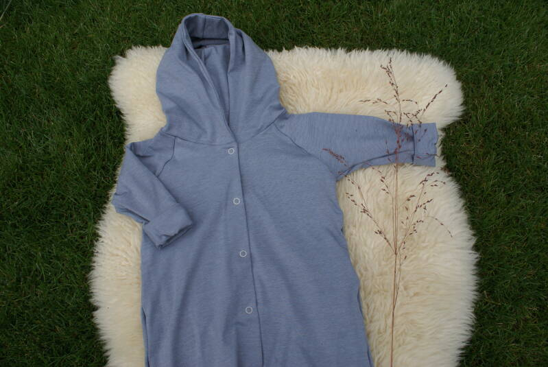 Onesie OLLIE Striped Greyblue - Maat 50 + 92