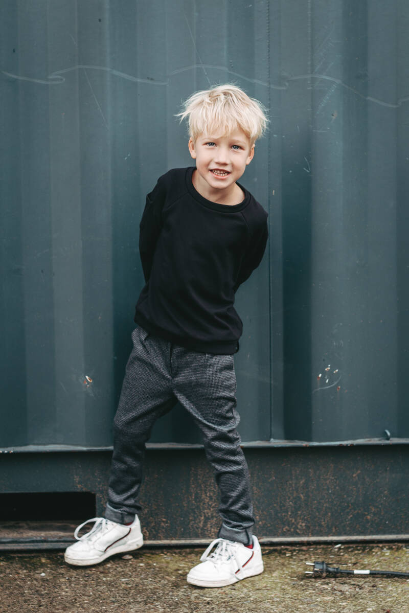 BROEK GUUS BLACK AND GREY BY P&Z