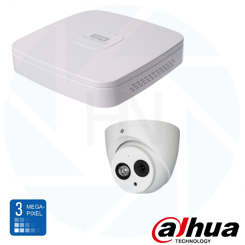 Dahua HD 3 Mp IP Eyeball camerabewaking set 01