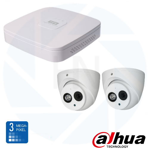 Dahua HD 3 Mp IP Eyeball camerabewaking set 02