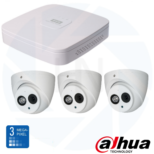 Dahua HD 3 Mp IP Eyeball camerabewaking set 03