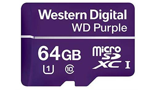 Western Digital Purple 64 Gigabyte SD kaart