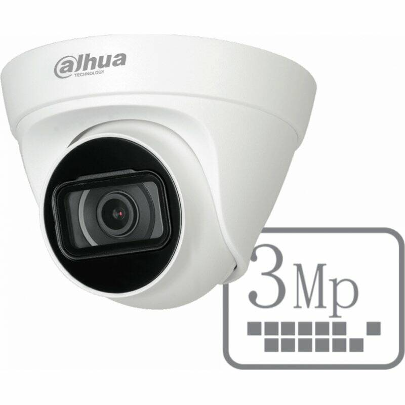 Dahua Outdoor IP 3Mp Eyeball camera. DH-IPC-HDW1330T1P-S4-3MP