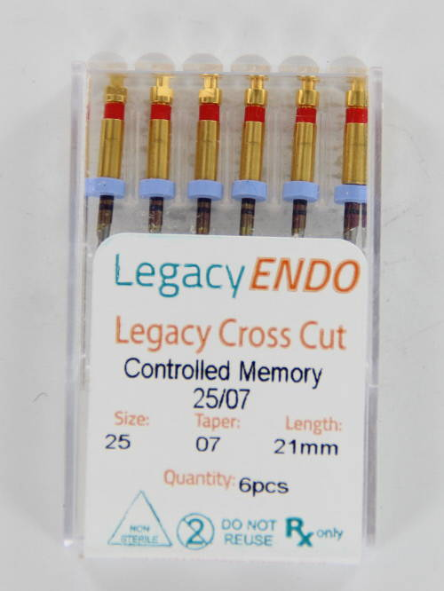 103868 LEGACY ENDO CROSS CUT 25mm .07 NR. 25 ROOD (6st)