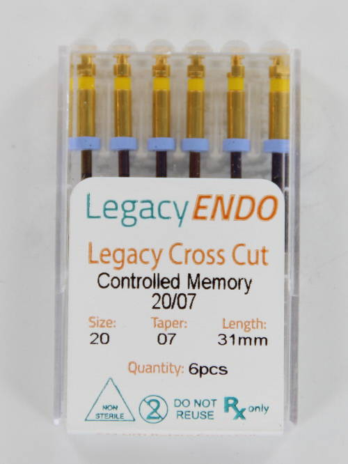 103871 LEGACY ENDO CROSS CUT 31mm .07 NR. 20 GEEL (6st)