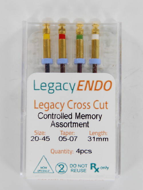 103877 LEGACY ENDO CROSS CUT 31mm ASSORTED (4st.)