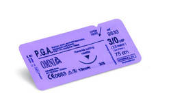 32.Z3061 OMNIA P.G.A. SUTURE 6/0 45CM EXTRA SHARP 12 MM 3/8 CIRCLE SHARP (12st)