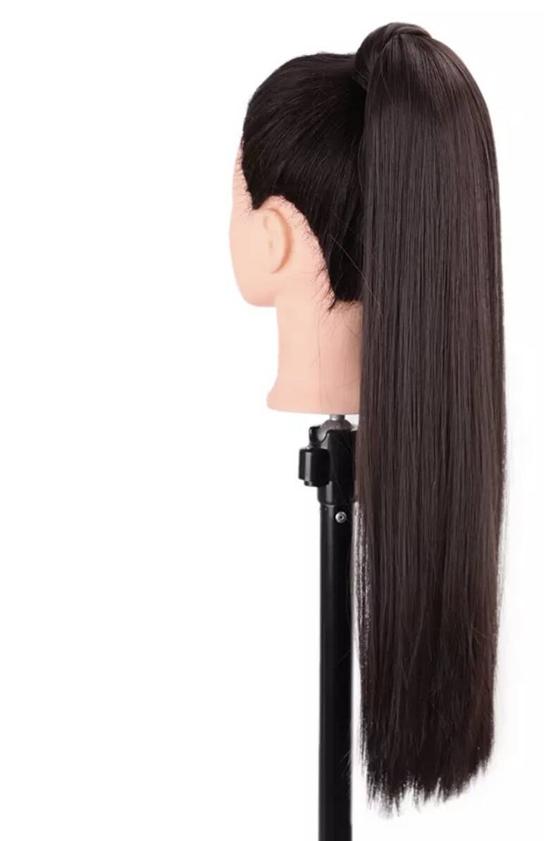Pony tail wrap non human hair