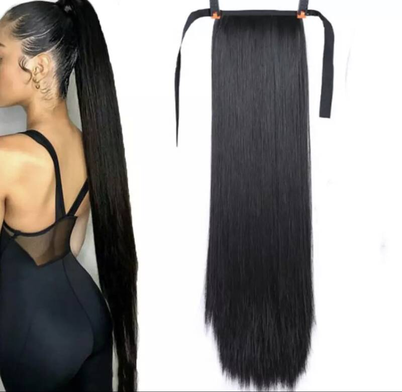 Ponytail non human hair xl 80cm OOK IN BLOND