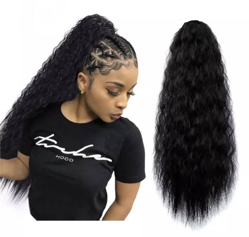 1b curly ponytail