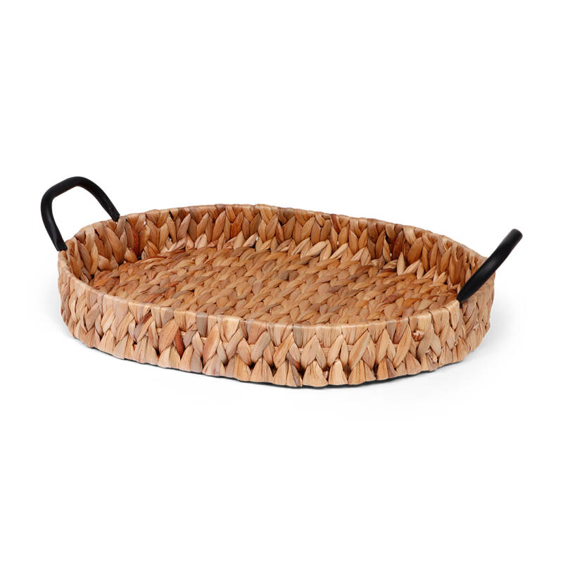Oval hyacinth tray with handels - LARGE