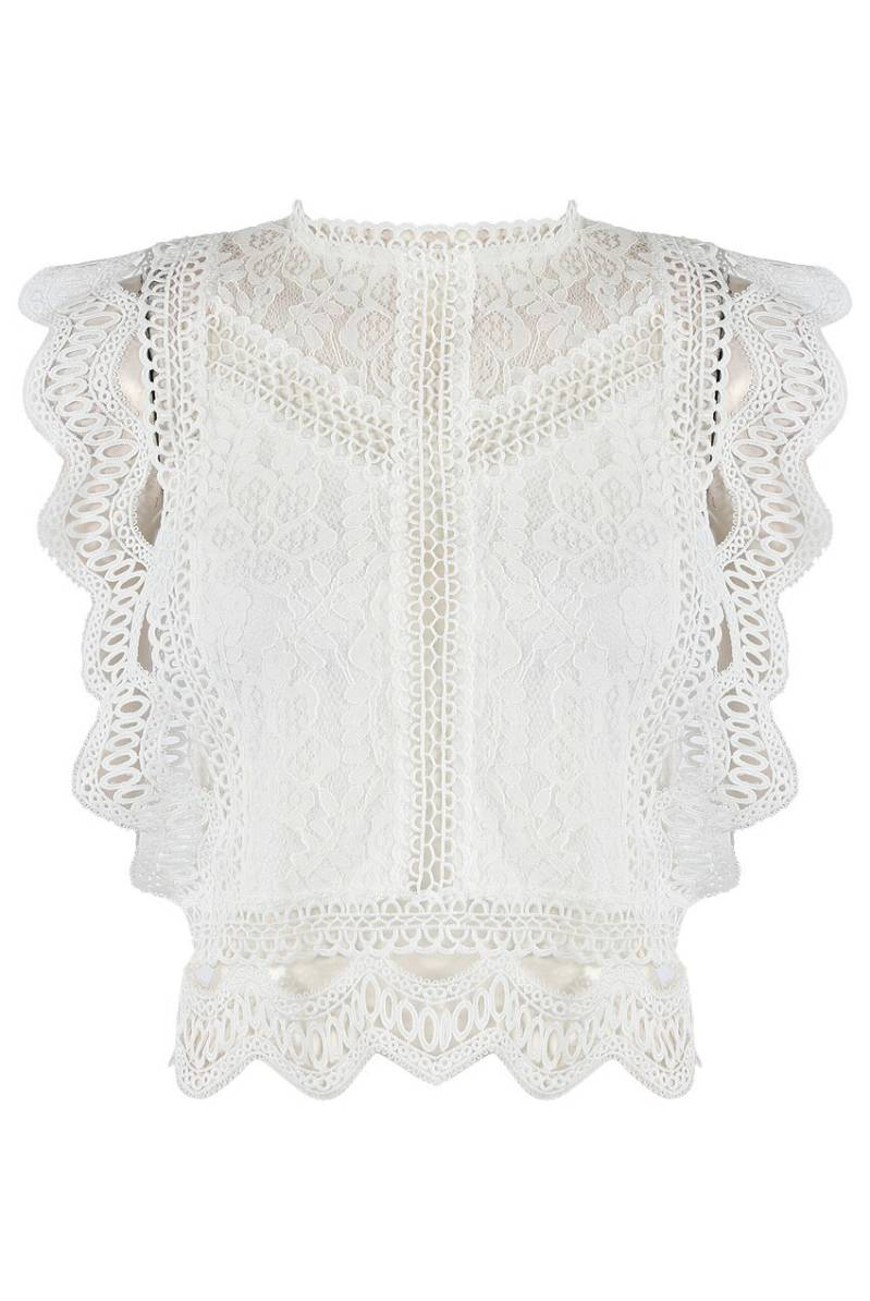 KYLIE LACE TOP WHITE