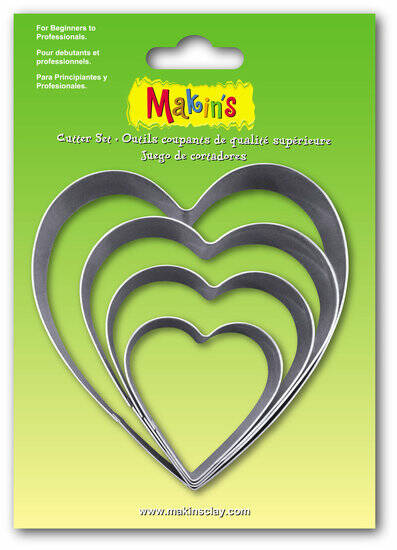 Stainless Steel Cutter Heart 4 PC Set (36503MC)