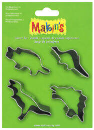 Stainless Steel Cutter Set Dinosaurs 4 PC Set (37102MC)