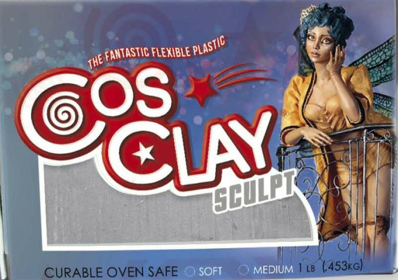 Cosclay Sculpt Gray Medium Firm
