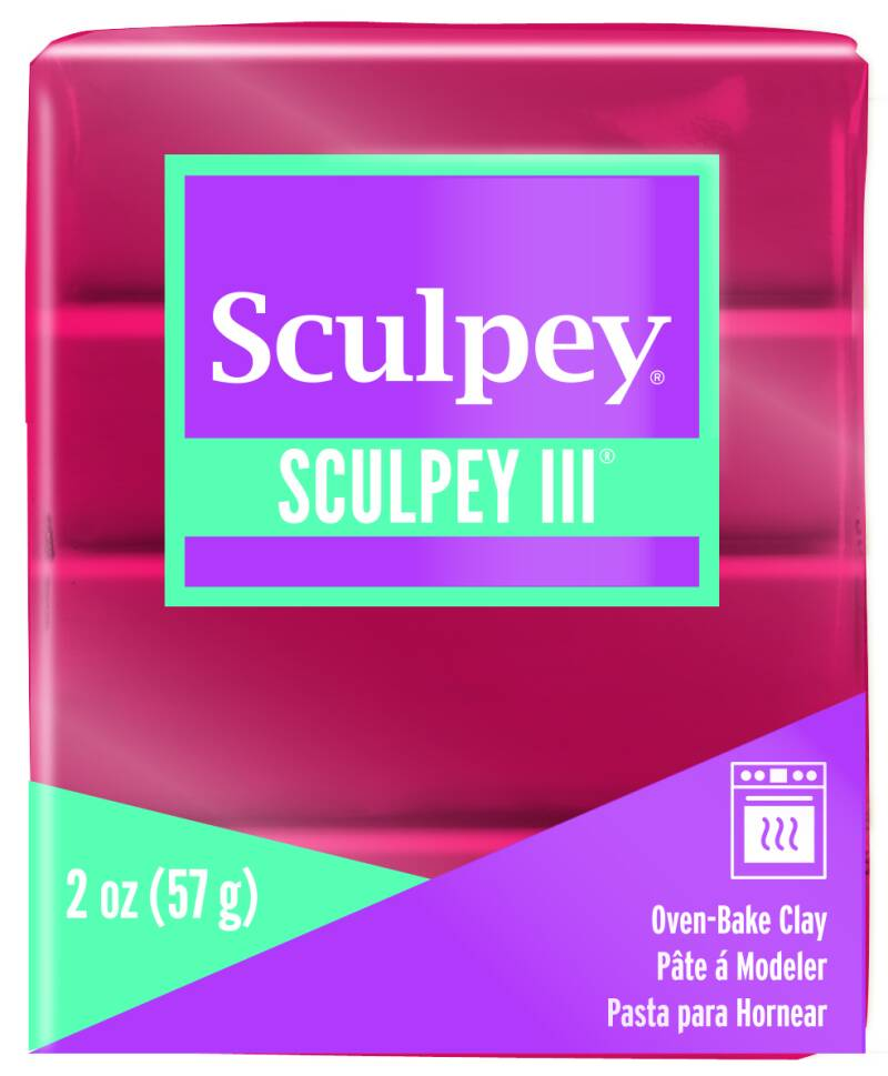 Sculpey III -- Deep Red Pearl (1140)