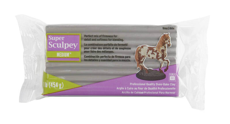 Super Sculpey Medium Blend -- Gray 454 gr. (SSMED1)