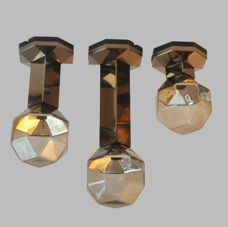Octagonal ceiling lights by Motoko Ishii for Staff