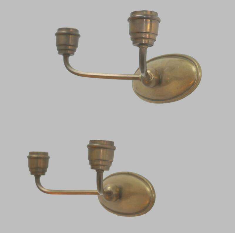 pair of French heavy brass wall lights