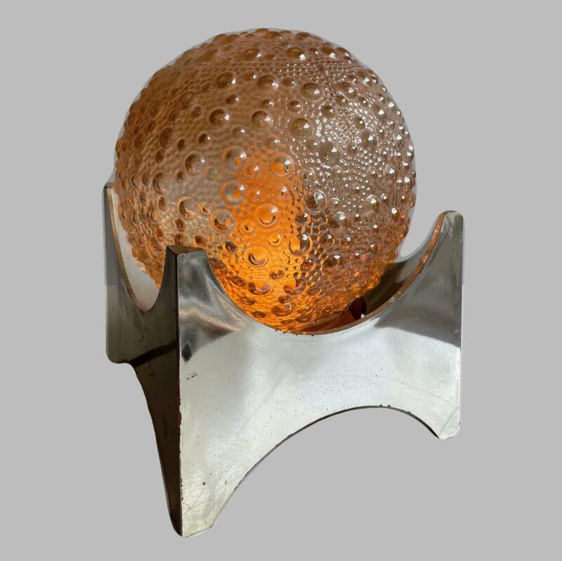 70ies bubble glass table lamp