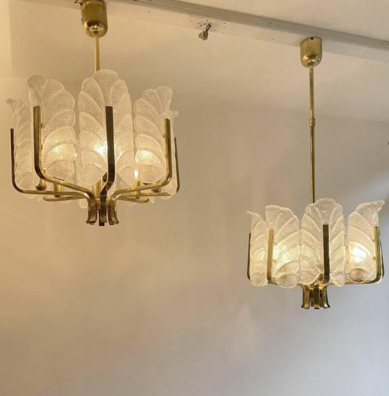 chandelier by Carl Fagerlund for Orrefors
