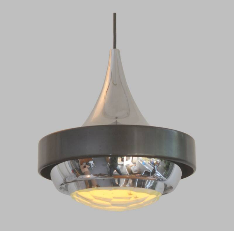 Stilnovo hanging lamp with faceted lens