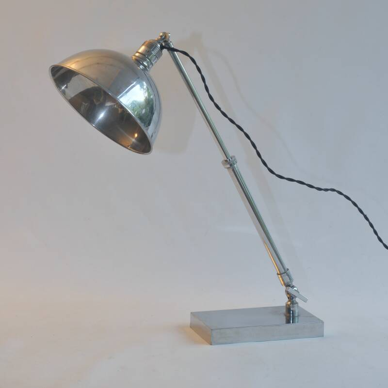 pre-WWII chrome desk lamp