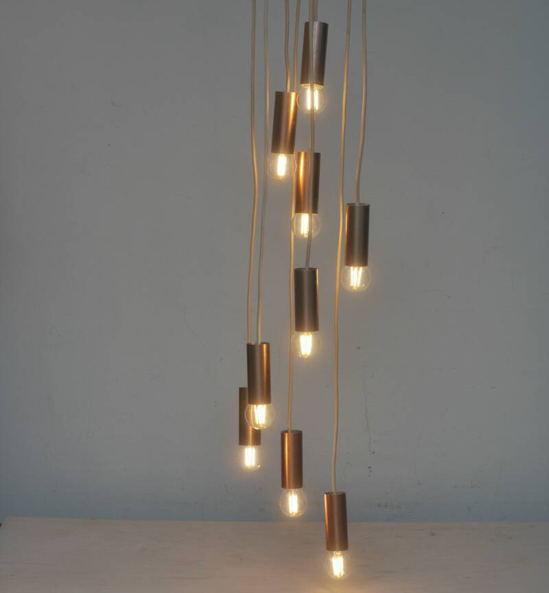 Raak copper coloured cascading light B-1300, two available