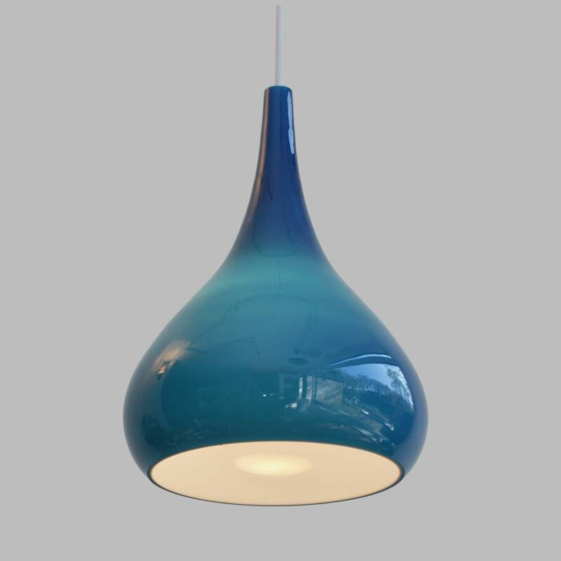 Fog and Morup cased glass hanging lamp by Jo Hammerborg